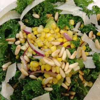 Kale with White Corn and Red Onions - Private Chefs Of Atlanta
