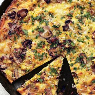 Sausage, Leeks, Mushroom and Broccoli Rabe Frittata - Private Chefs Of Atlanta